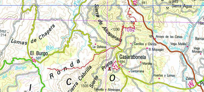 Carratraca to El Burgo