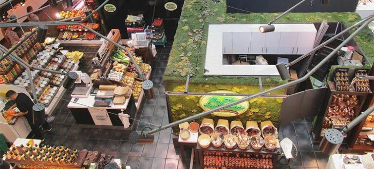 Gourmetmarknad i Madrid