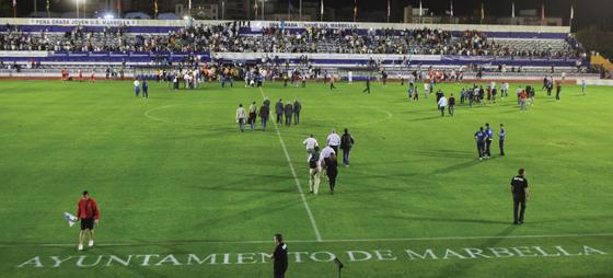 Estadio Municipal i Marbella. Foto: Juan Zarzuela