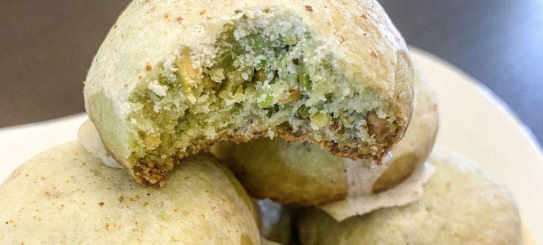 Veras Veranda: Pistagekakor med glasyr på brynt smör