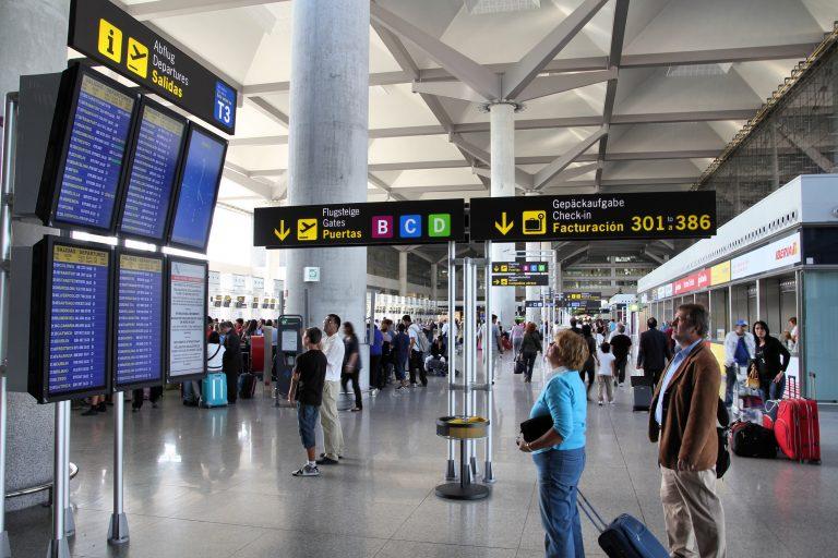 Full aktivitet på Málagas flygplats