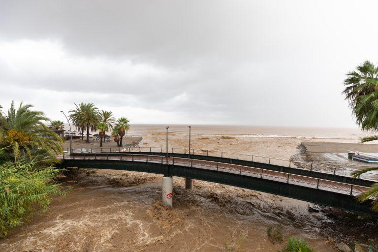 Branden i Sierra Bermeja ökar översvämningsrisken på Costa del Sol