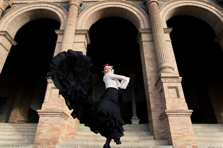 Centrala Sevilla förvandlas till en flamenco-modevisning