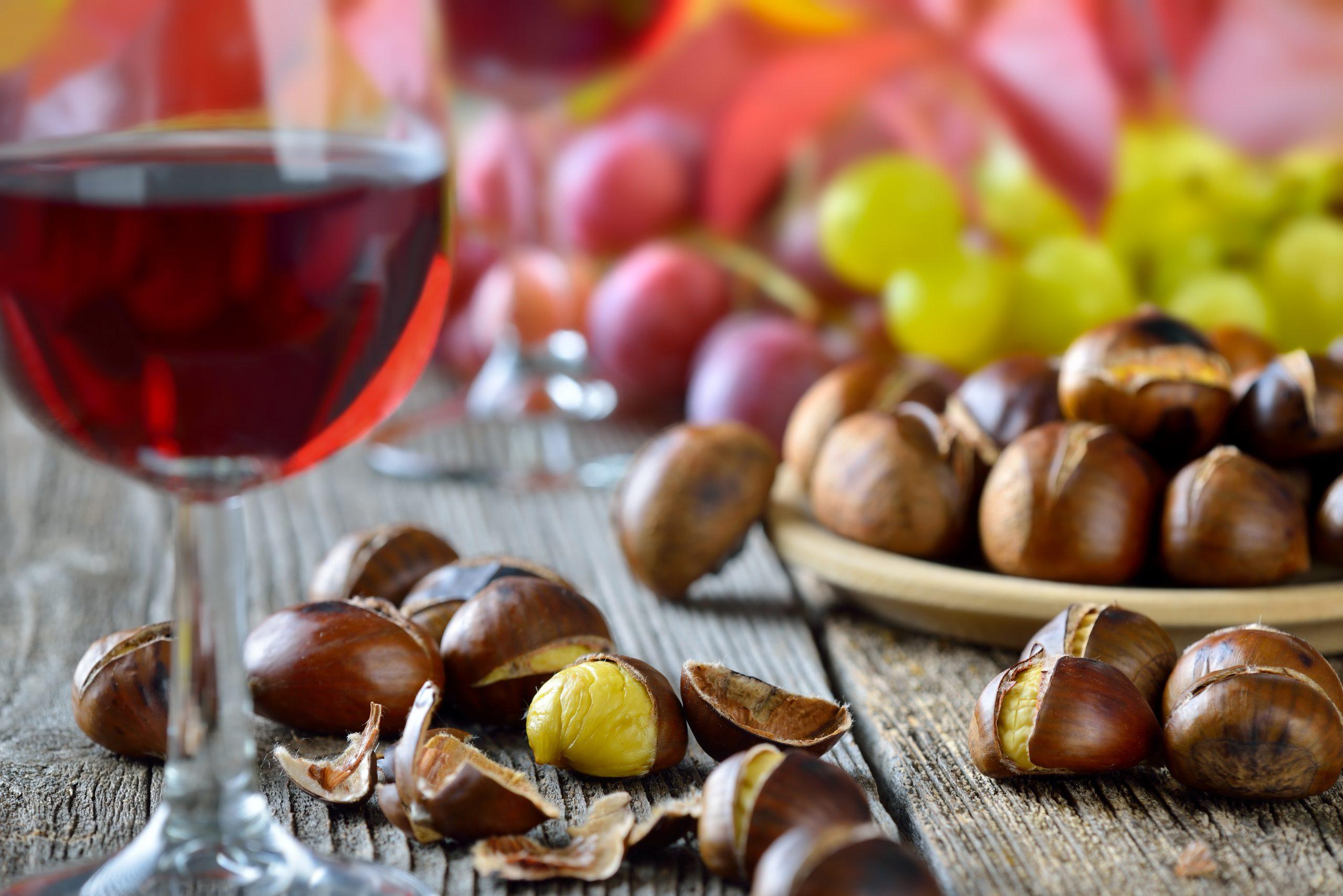 Vin- och kastanjefest i Yunquera