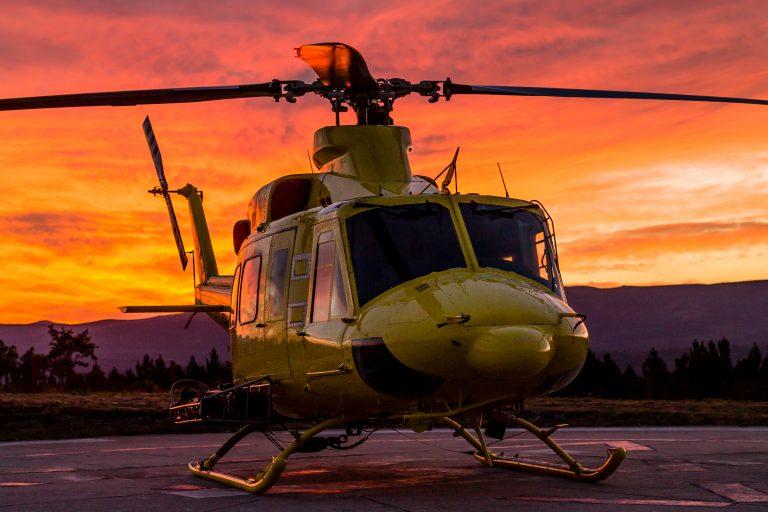 Helikopterolycka i brandbekämpning