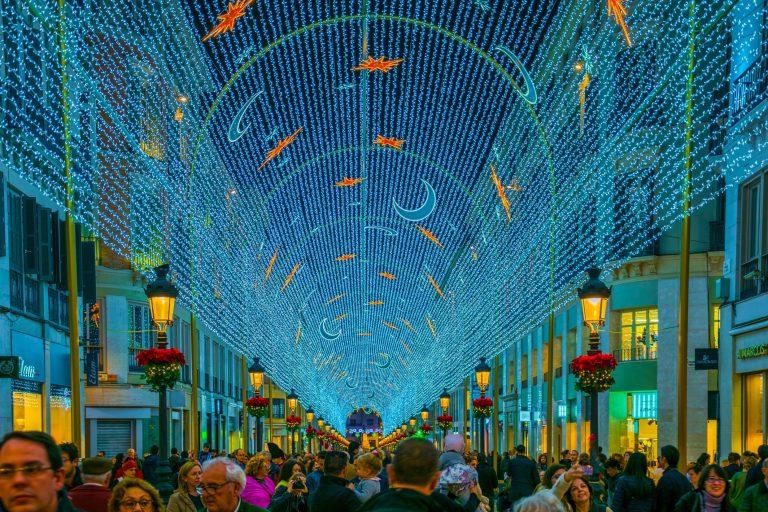 Då tänds julbelysningen i Málaga!